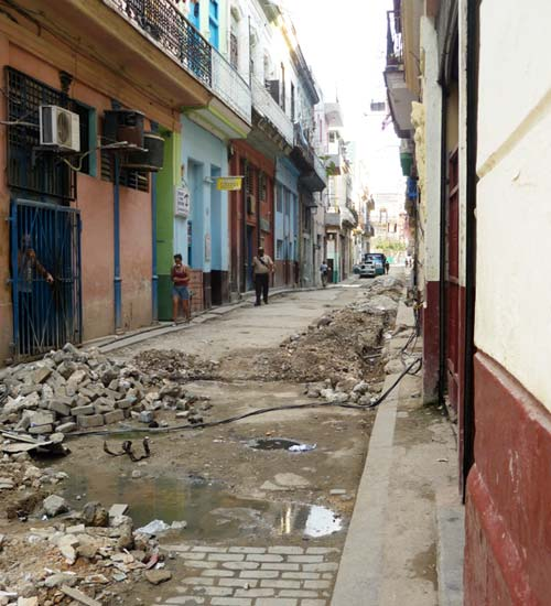 UM engineers and researches propose using innovating materials to help restore Cuba's crumbling infrastructure, such as this road in Havana.