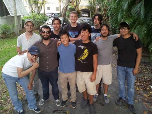 The film production crew for El Mar y Él (2015). Photo credit: Tony Mendez
