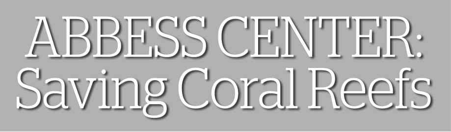 ABBESS CENTER: Saving Coral Reefs