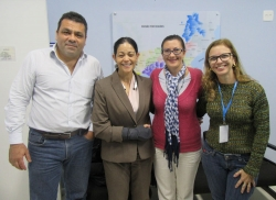 From left, Alexandre Chieppe, M.D., Director, State of Rio de Janeiro Health Surveillance, Aileen Marty, M.D., Florida International University, Ximena Marincic Sanchez, M.P.H., and Silvia Carvalho, Coordinator, State of Rio de Janeiro Health Surveillance